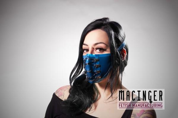 Latex Cyber-Halbmaske - Lace - MACINGER