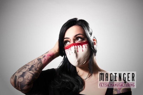 Latex Cyber-Halbmaske - Blood