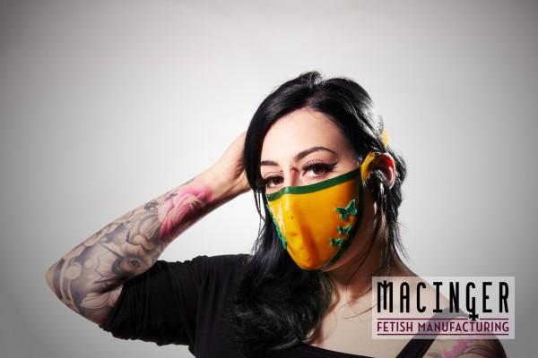 Latex Cyber-Halbmaske - Flora