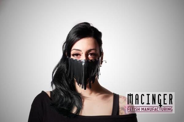 Latex Cyber-Halbmaske - Tribal - MACINGER