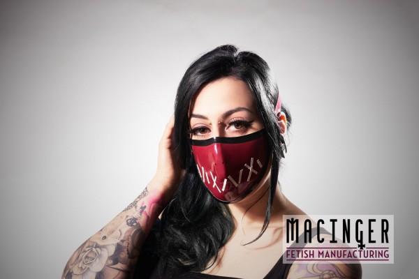 Latex Cyber-Halbmaske - Mouth sewn - MACINGER