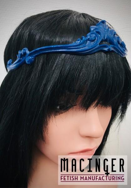 Kopfschmuck mit blauer Applikation 'Apatit' - MACINGER - am Kopf