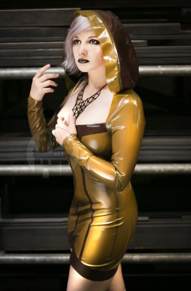 Latex Minikleid 'Rogue' mit Kapuze - Macinger