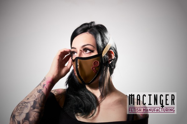 Latex Cyber-Halbmaske - Steam - MACINGER