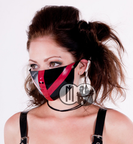 latex cyber halbmaske