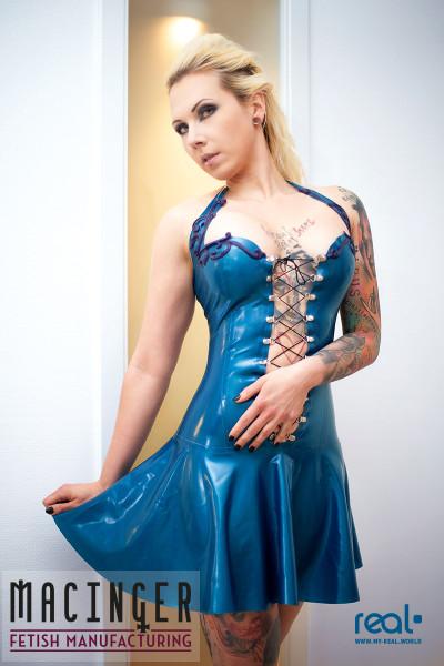 Latex Kleid 'Lacus' - MACINGER vorne