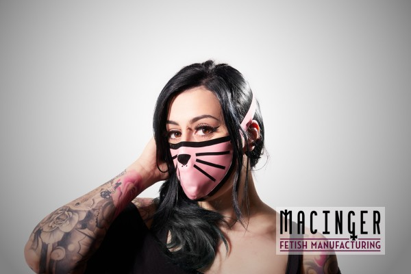 Latex Cyber-Halbmaske - Kitty - MACINGER