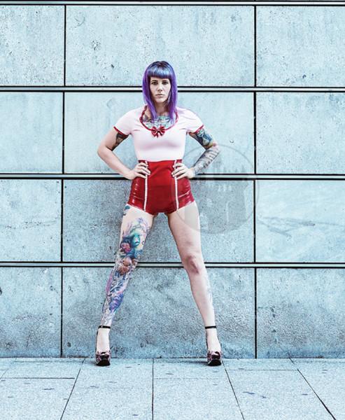 Latex High Waist Pants 'Girl' - Macinger