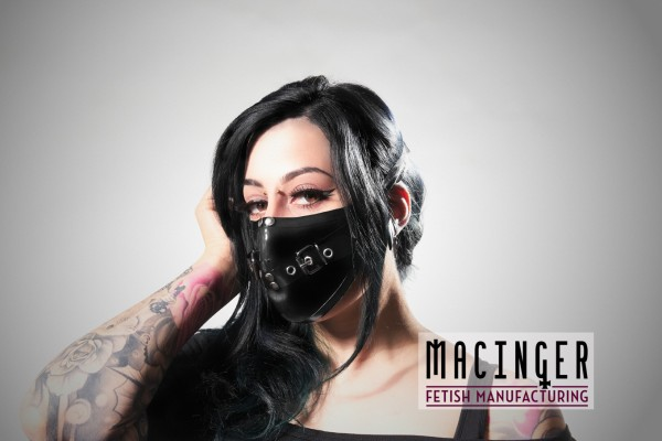 Latex Cyber-Halbmaske - Belt - MACINGER