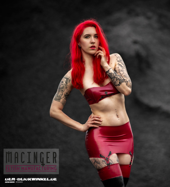 Latex Bandeau Top 'Cherry' - Macinger